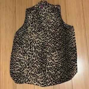Vince Canute leopard dressy tank